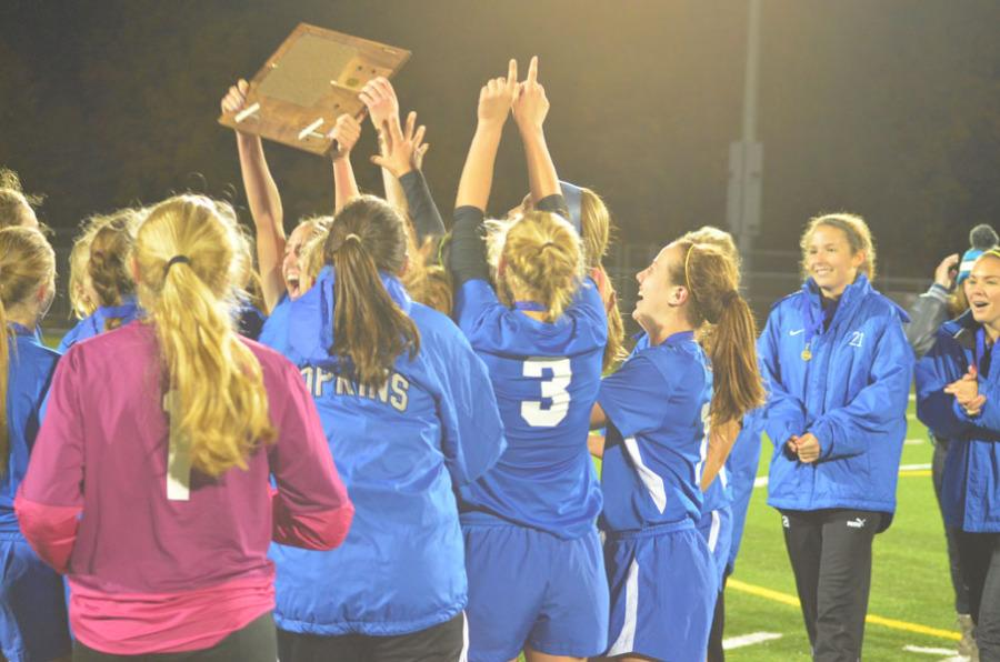 Girls soccer into state for first time in school history