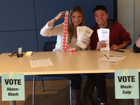 Students participate in mock election