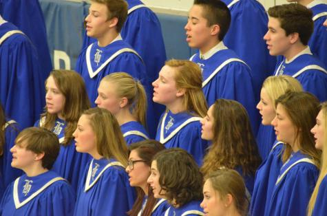 Concert Choir sings with young Royals