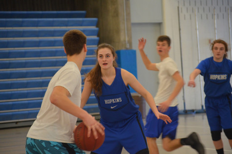 In preparation for postseason, girls basketball scrimmage boys