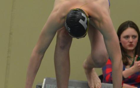 Boys swim team falls short at section meet