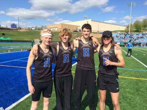 4 by 800 meter relay record broken by boys distance runners