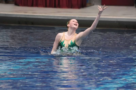 Cleary qualifies for Junior Olympics in synchronized swimming