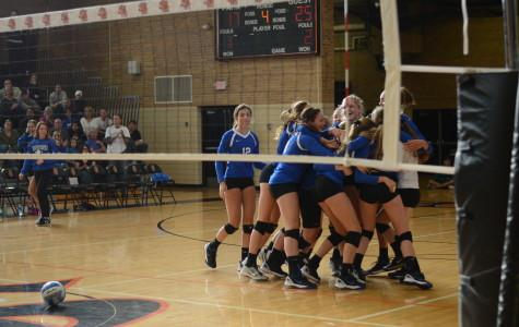 Volleyball upsets undefeated Millers