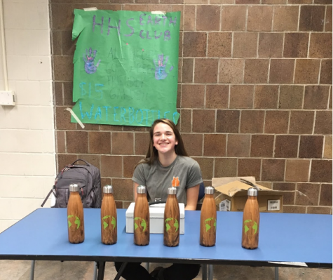 Earth Club sells water bottles to raise money for wildflower garden