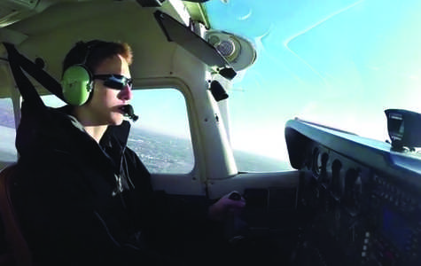 Van Hoven flies as a private pilot