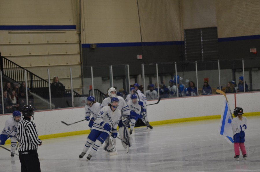 Boys hockey at the Hopkins Pavilion before the game against Wayzata in 2016.