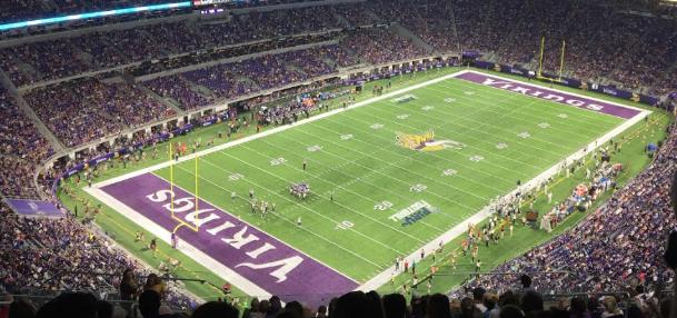 Photo taken at Minnesota Vikings second preseason game at their new stadium. Vikings beat the Los Angeles Rams 27-25 on Thu. Sep 1st.