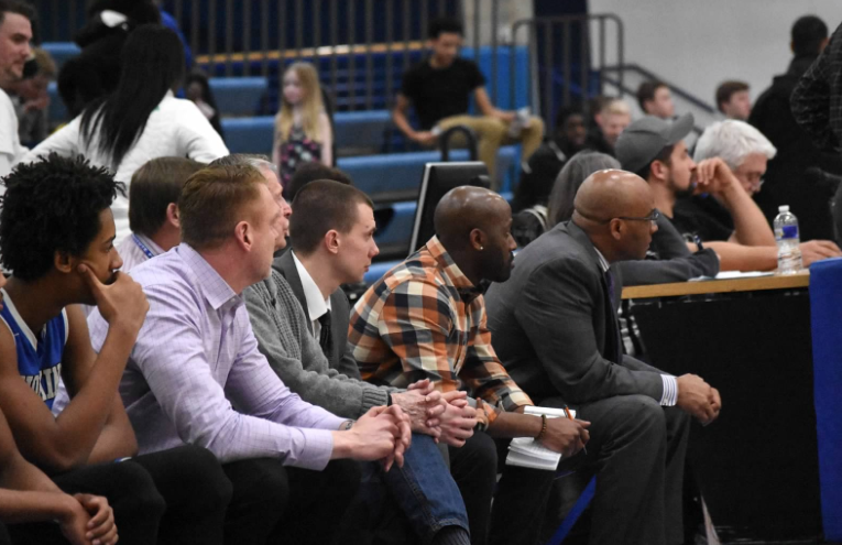 Left to Right; Mr. Dale Stahl, Mr. Brock Tesdahl, Mr. Demondi Johnson, and Mr. Kerry Southerland. Photo was taken at the Royals vs Warriors game.