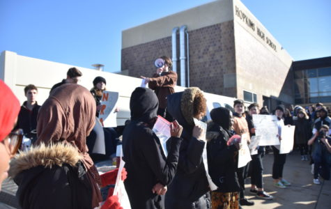HHS students walkout in support of ending gun violence