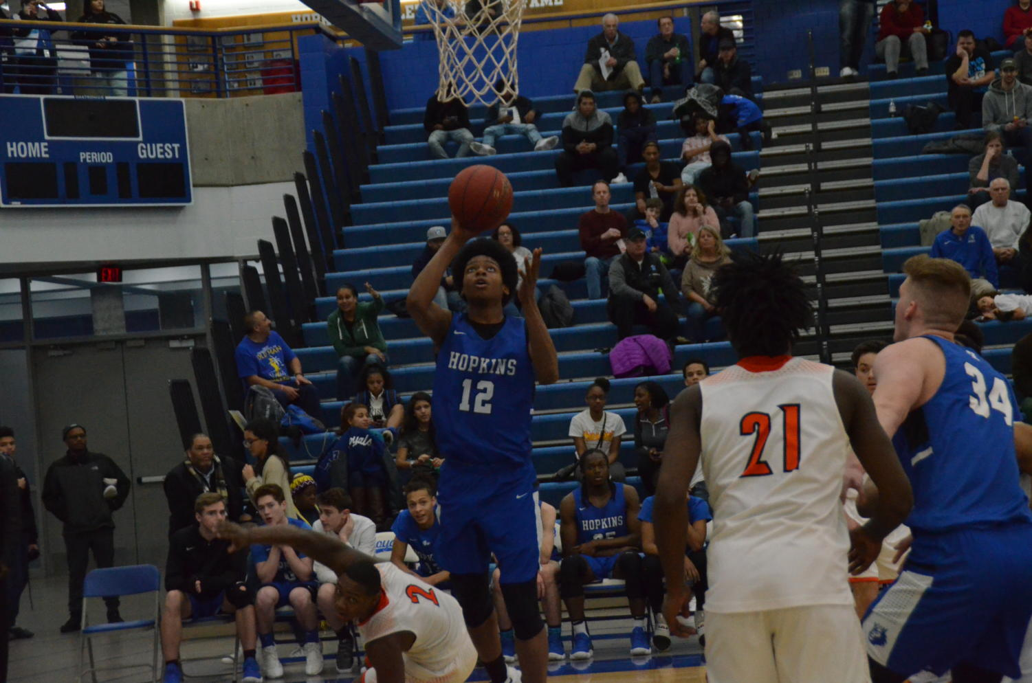 Kerwin Walton, junior, goes up for a shot in a game last season. Walton is set to start at point guard this season for the Royals.
