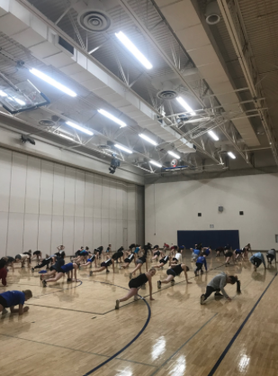 HRDT warms up for tryout day three of four.