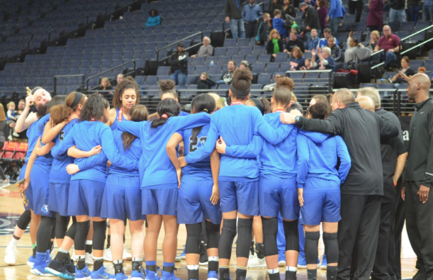 Girls basketball keeps it tight but falls to the Lightning in the State Championship