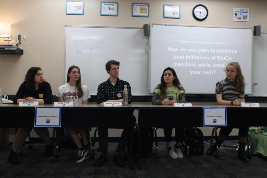 Student Council members run for President, Vice President