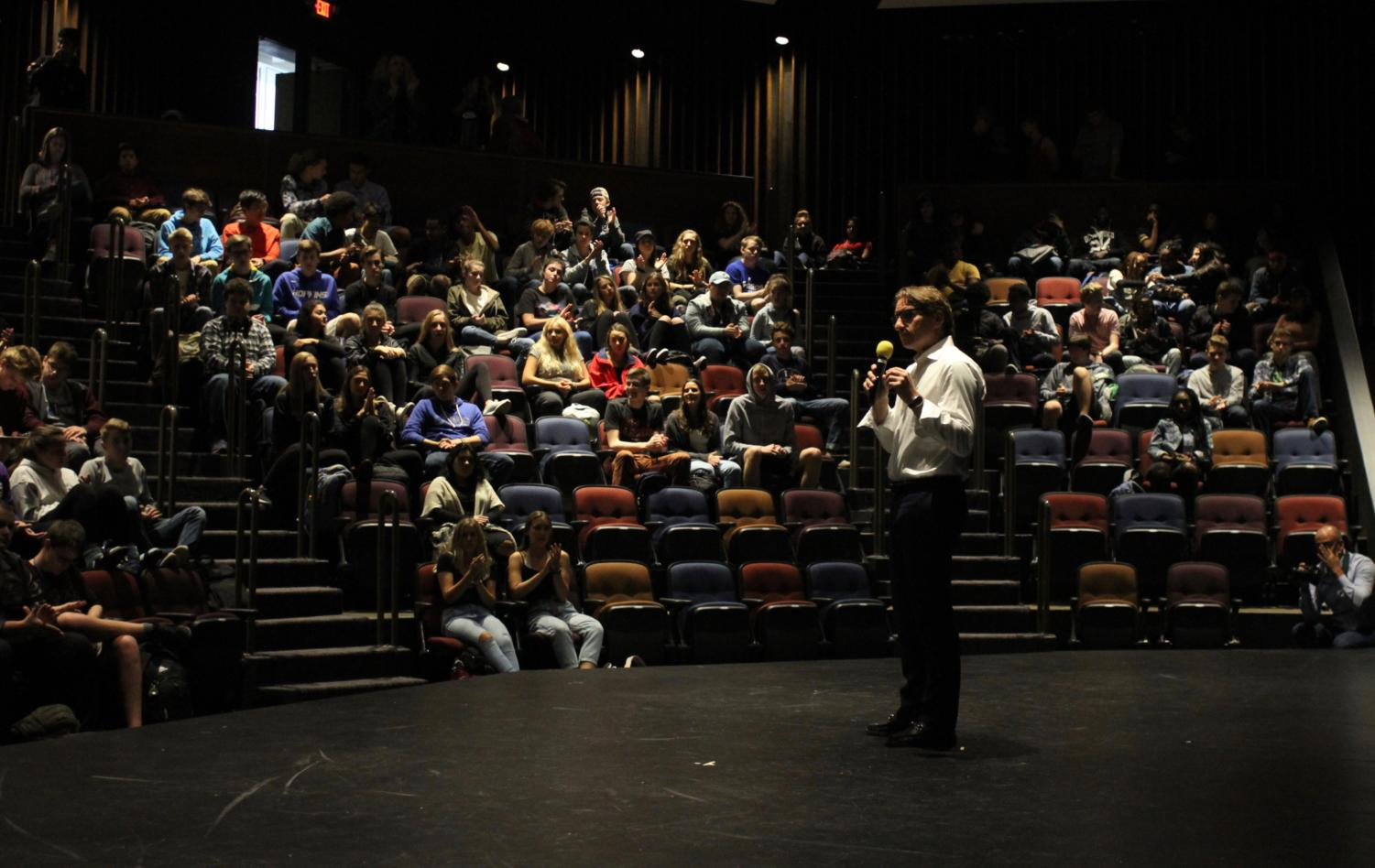 Dean Phillips came on a visit to HHS this week. Phillips is running for congress.
