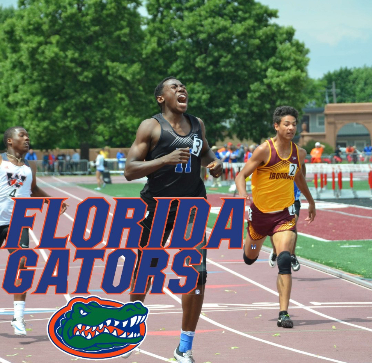 Joe Fahnbulleh, senior, committed to the University of Florida to run track.