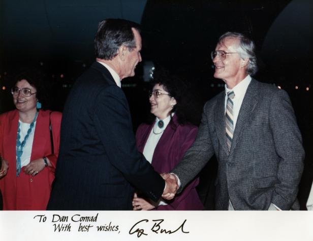 Retired HHS teacher awarded by former President George H.W. Bush