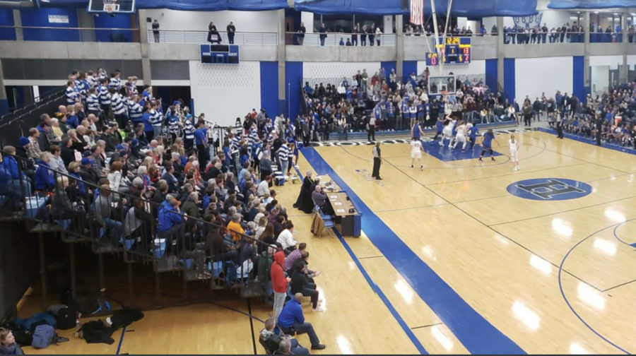 The packed Lindbegh Center on an eventful friday night. Both boys and girls beat Wayzata in highly anticipated matchups.