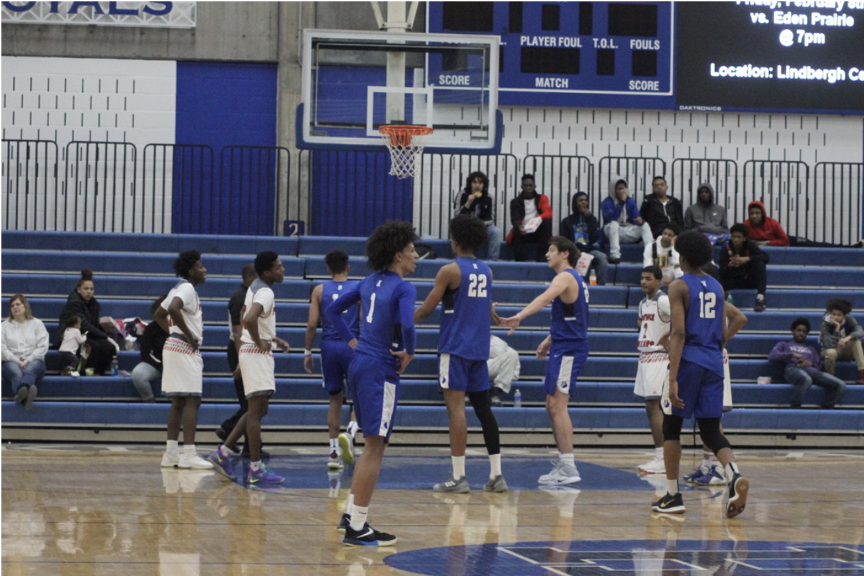 Zeke Nnaji, senior, taking a free throw in the Royals victory over Minneapolis Henry. Nnaji is a candidate for Mr. Basketball this year.