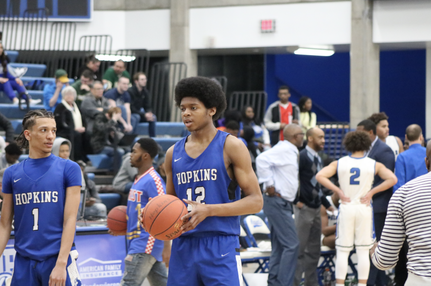 Kerwin Walton, junior, in a  win against Minneapolis North. The Royals are the one seed in their section.