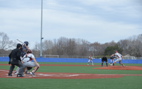 Collegiate division two baseball game played at HHS turf field