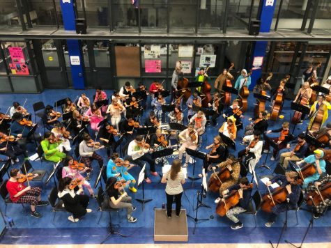 On Oct. 24, the HHS orchestras, Philharmonic and Symphony Strings, hosted their annual Children's Concert in the Mall. This marked the nineteenth year of the tradition.