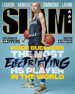 Paige Bueckers, senior, on the cover of SLAM magazine. Bueckers is the number one ranked player in the nation.